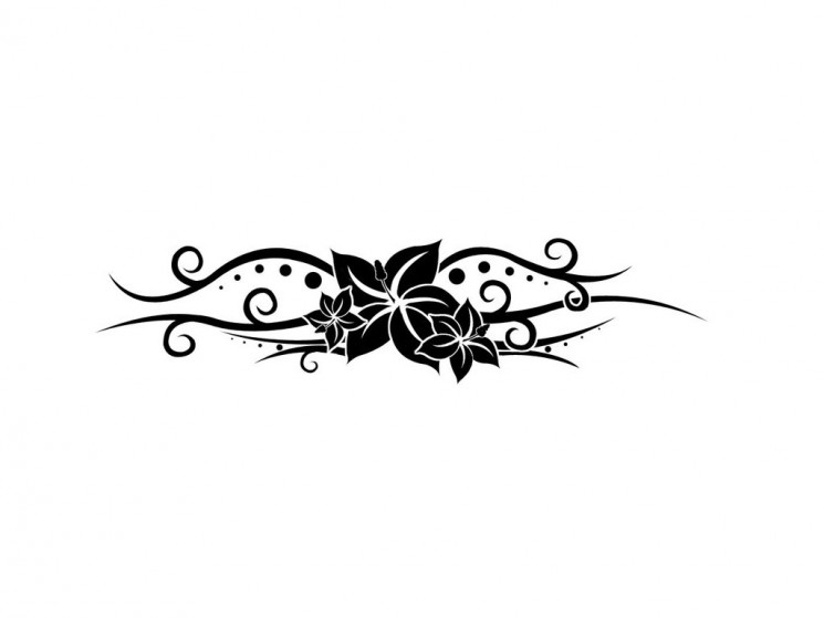 Tinkerbell Tattoo Designs On A Black Background