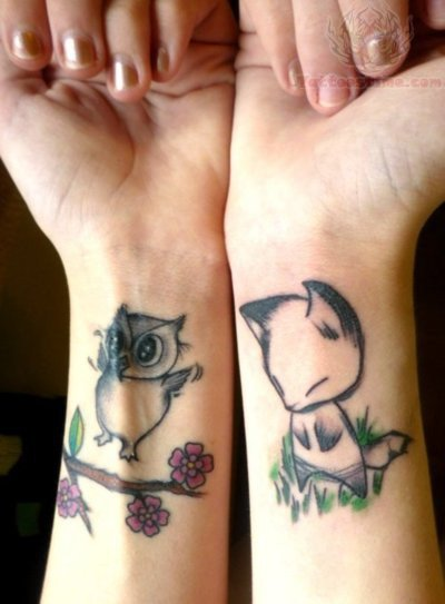 Tophat Owl And All Seeing Eye Tattoos