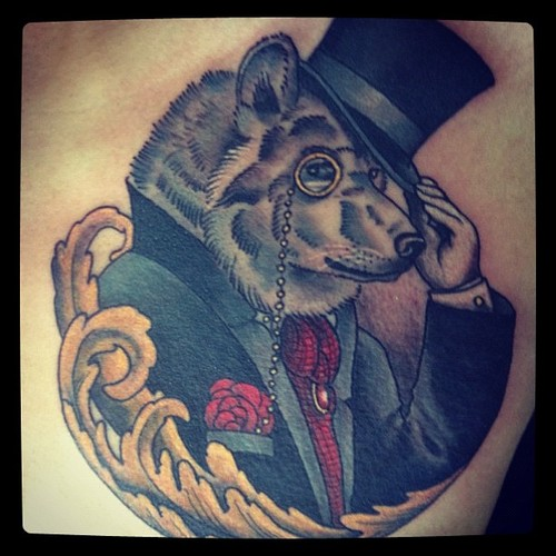 Tophat Water Animal Tattoo
