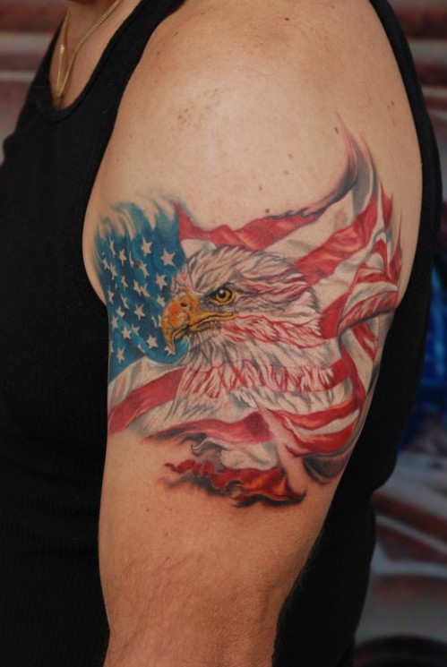 Torn Skin Eagle Tattoo
