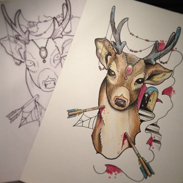 Traditional Deer Tattoo Page