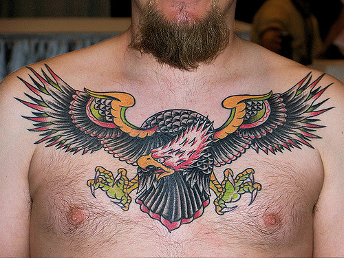 Traditional Eagle Tattoo For Men