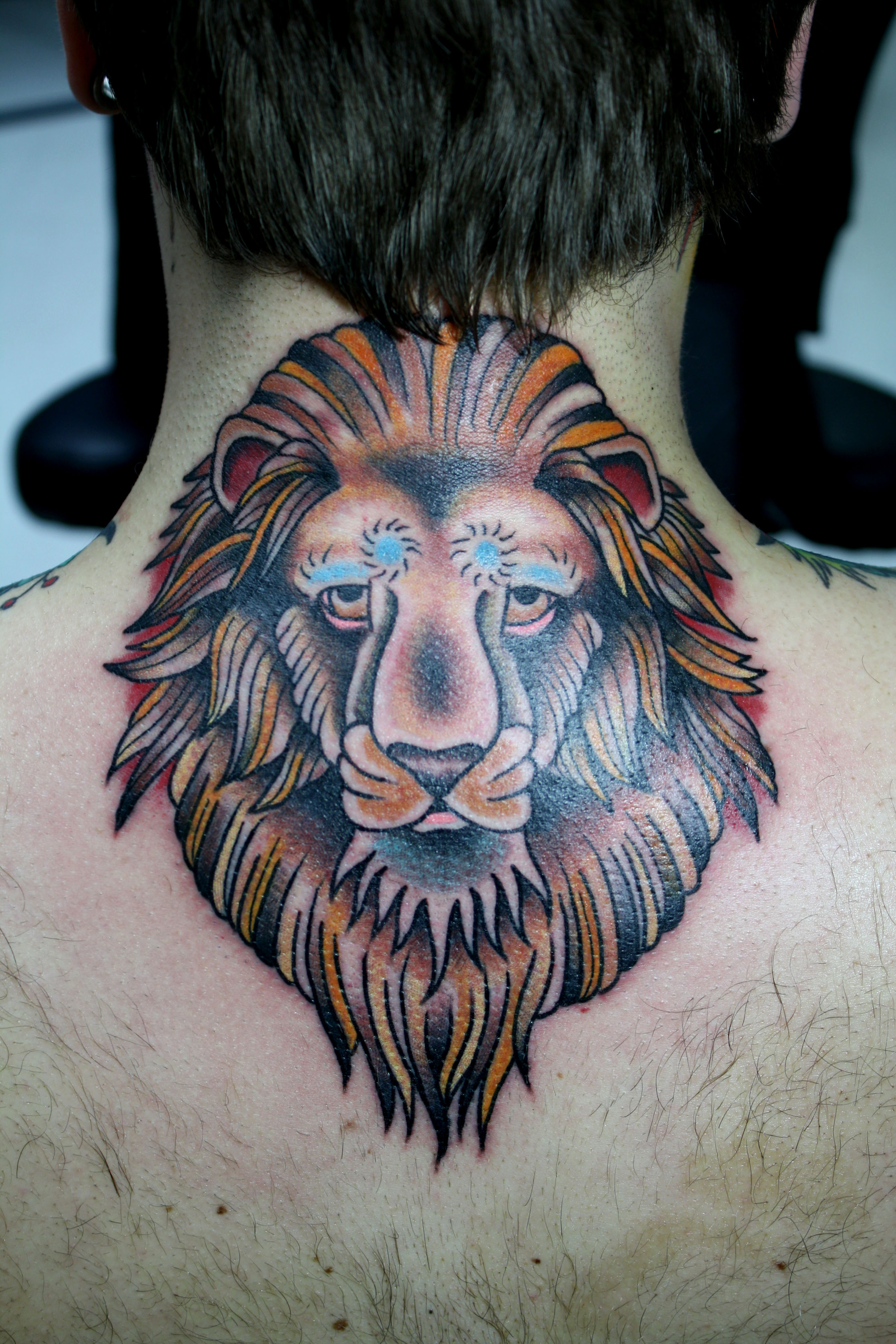 Traditional Lion Head Tattoo In 2017 Real Photo Pictures Images