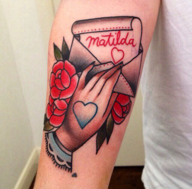 Traditional Love Heart Tattoo Graphic