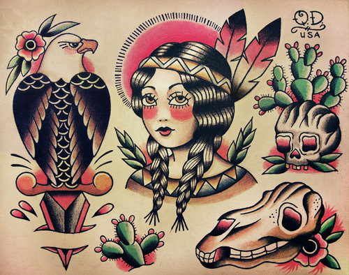 Traditional Native American Tattoo Designs