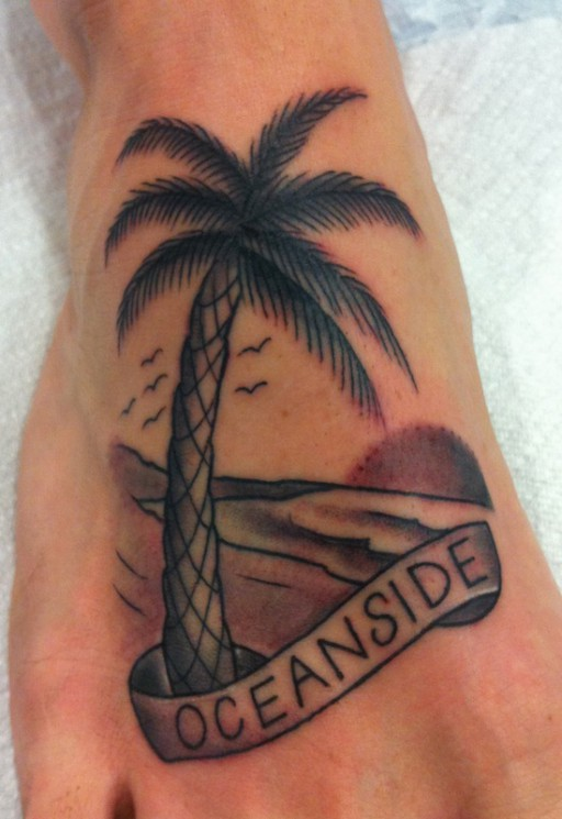 Traditional Palm Tree Tattoos