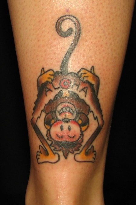 Traditional Tattoo On Ankle