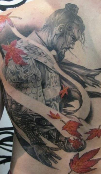 Traditional Warrior Tattoo For Arm