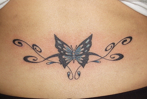 Tramp Stamp  Butterfly Tattoo