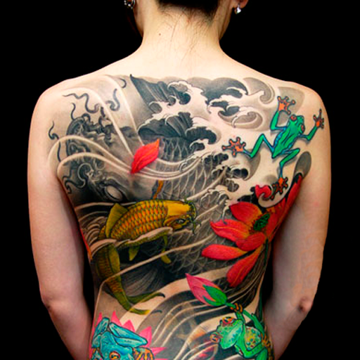Tree Frog Tattoo On Right Back Shoulder