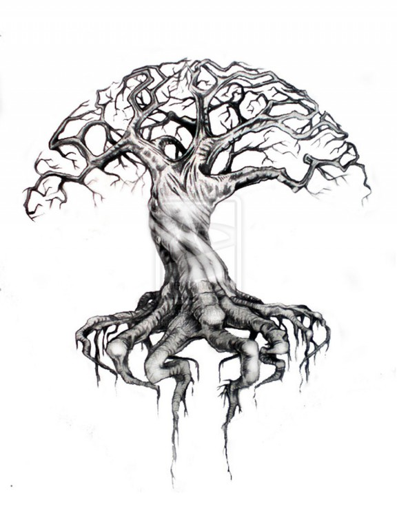 Tree Of Life Tattoo Sketch