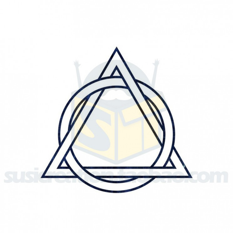 Triangle In Circle And Date Tattoos
