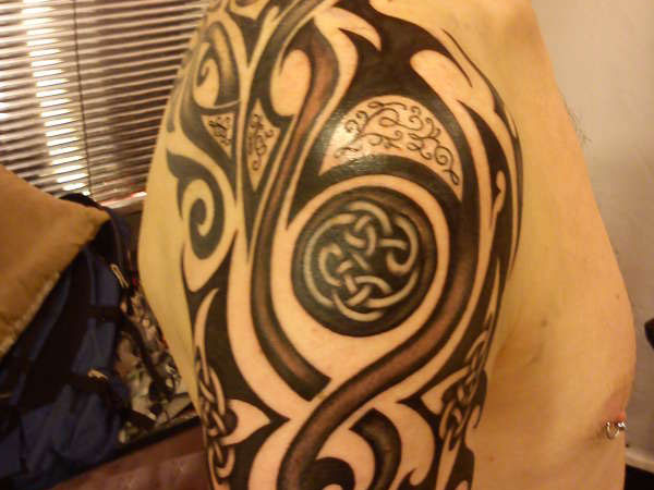 Tribal And Celtic Knot Tattoo