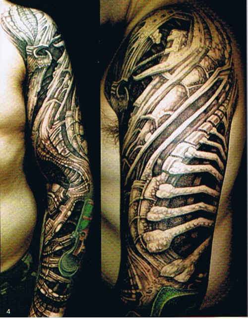 Tribal And Portrait Tattoos For Sleeve