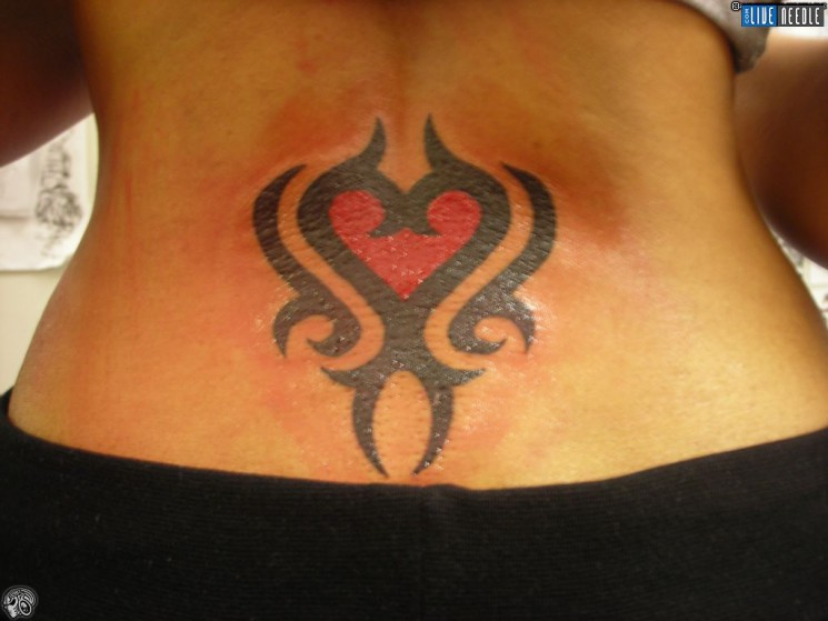 Tribal Back Tattoo For Women