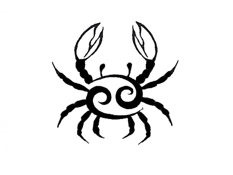 Tribal Crab Cancer Tattoo