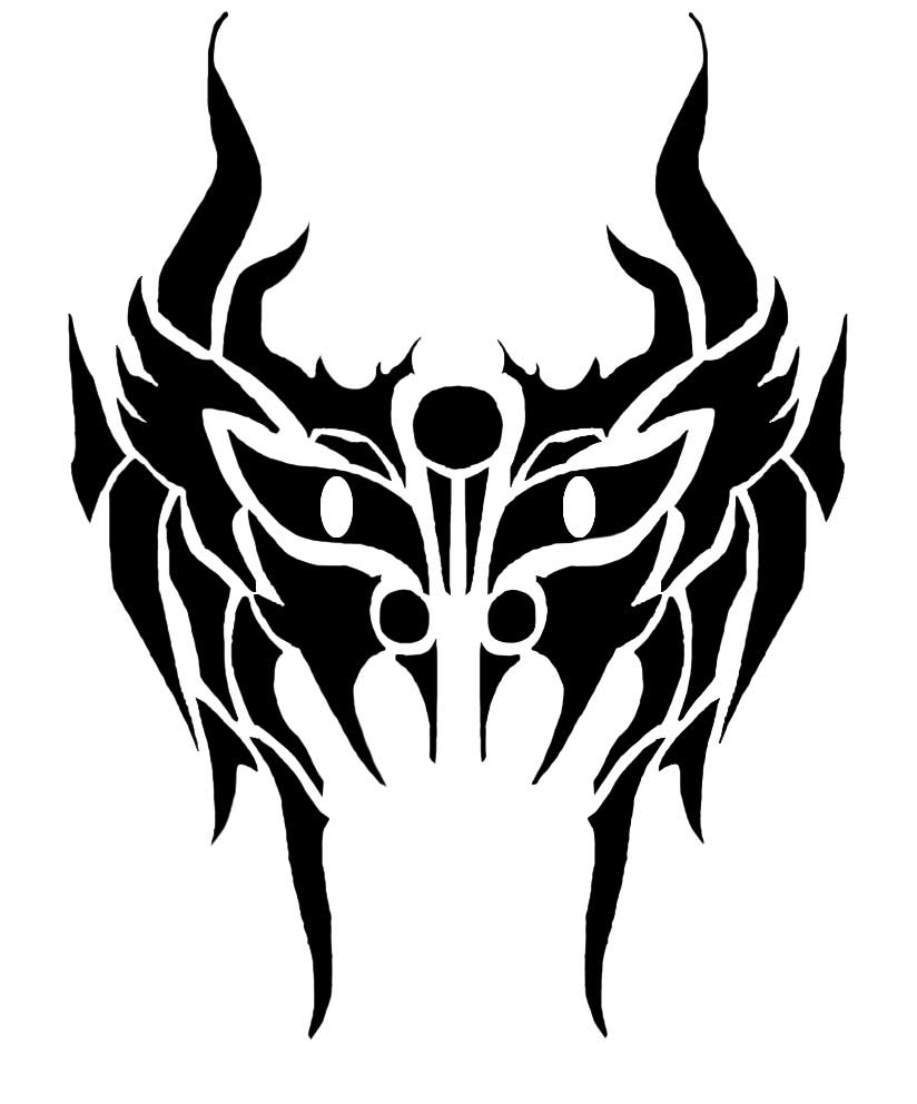 tribal devil mask tattoo design in 2017 real photo pictures images and sketches tattoo. Black Bedroom Furniture Sets. Home Design Ideas