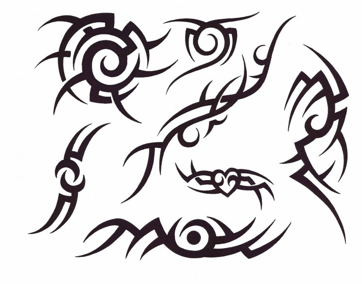 Tribal Face Tattoo For Women
