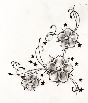 Tribal Hibiscus Flower Tattoo For Girls