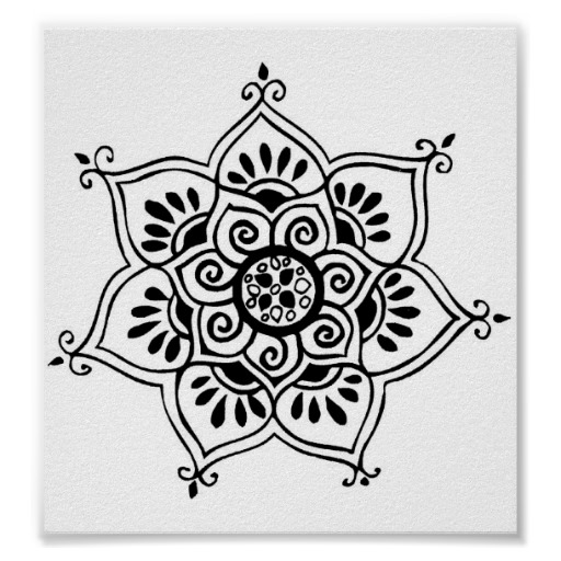Tribal Lotus Tattoo Poster