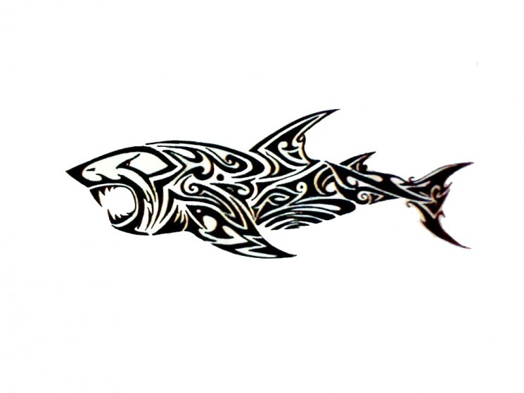 Tribal Shark Tattoo Version