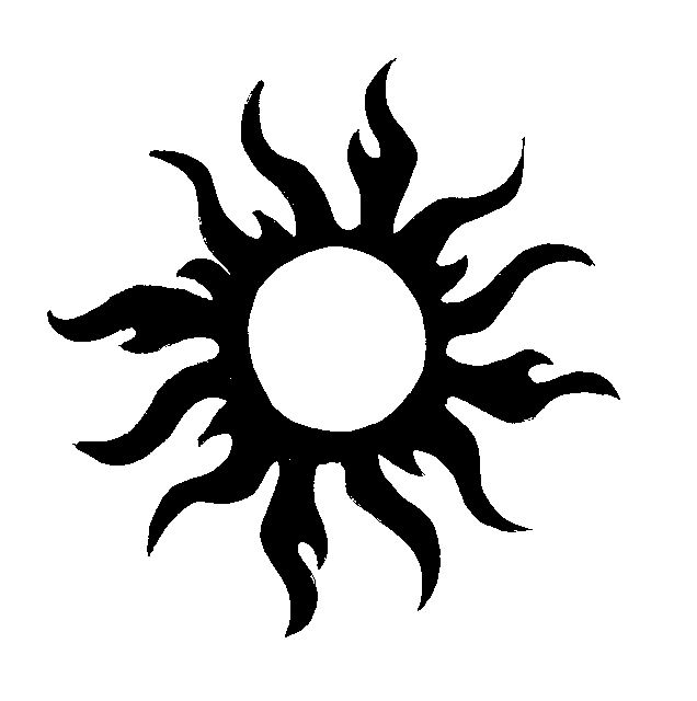 Tribal Sun Tattoo Drawing