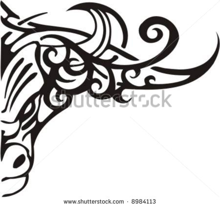Tribal Taurus Bull Free Tattoo Design