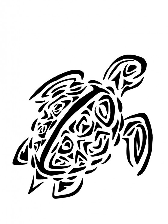Tribal Turtle Animal Tattoo