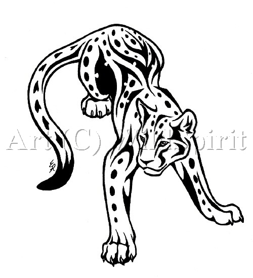 Tribal Wolf And Lion Tattoo Sample