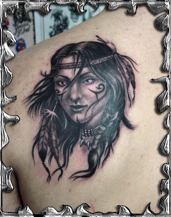 True Woman Warrior Tattoo Picture