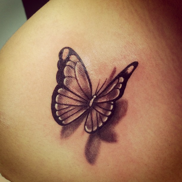 Truly Amazing 3D Butterfly Tattoo