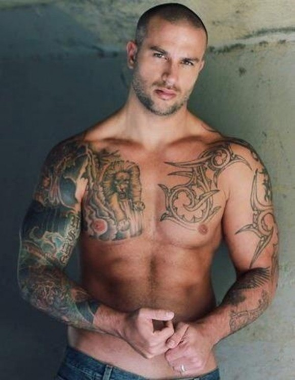 Truly Amazing Grey Ink Muscles Tattoos For Men