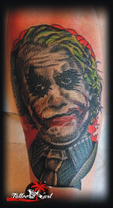 Truly Awesome Joker Tattoo Design