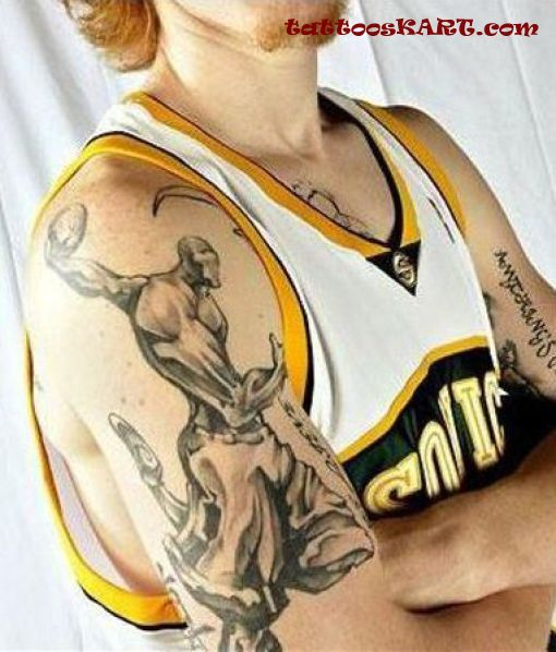Truly Awesome Sports Tattoo On Biceps