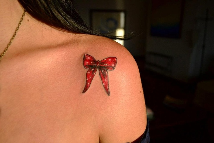 Truly Gorgeous Ribbon Bow Tattoo