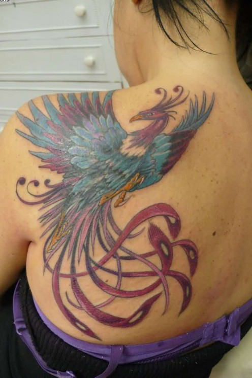 Truly Lovely Phoenix Tattoo For Women