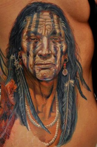 Truly Sensational Grey Native Feather Band Tattoo
