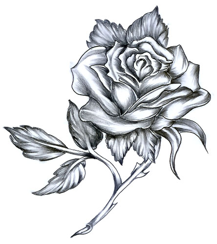 Try A Latest Rose Tattoo Design