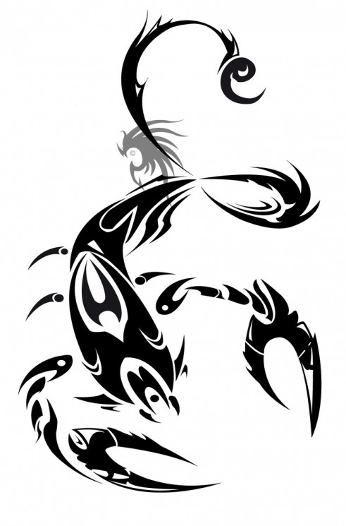 Try A Scorpion Tribal Tattoo Design