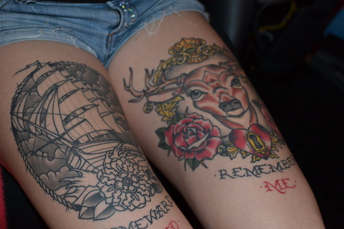 Tumblr Cyle Tattoo On Thigh