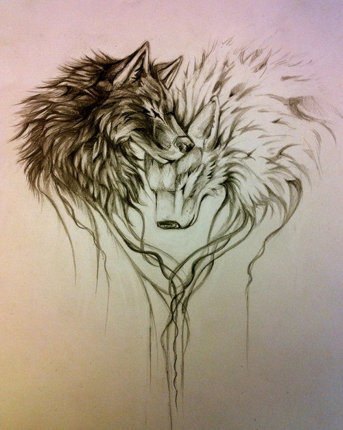 Tumblr Wolf Head Tattoo On Right Thigh