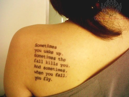 Tumblr Wording Tattoo On Shoulder For Girls