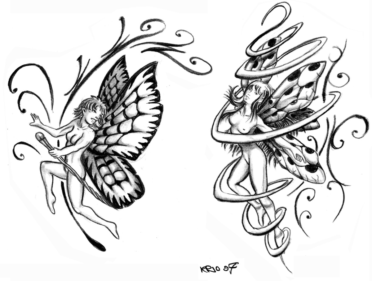 Fairies tattoos designs - All Images To Two Fairy Tattoo Designs