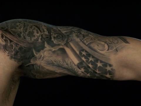 US Army Patriotic Tattoo On Arm