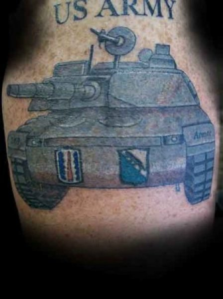 US Army Tank Tattoo