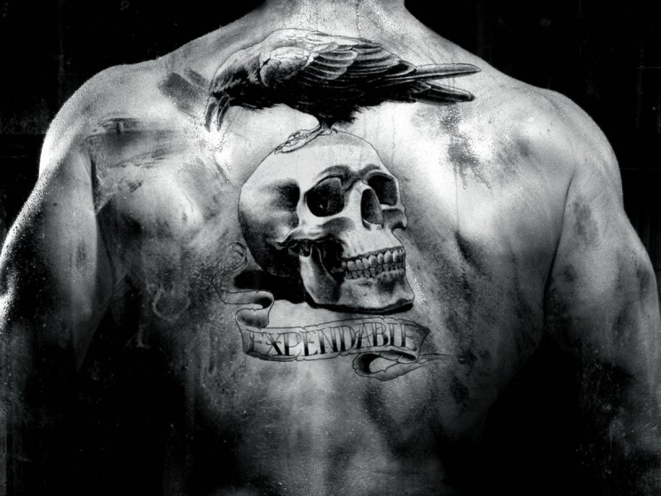 US Country Military Tattoo On Back