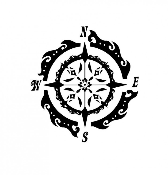 Ultimate Compass Tattoo Design