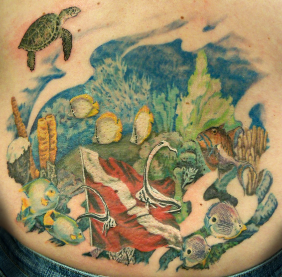 Underwater Aqua World Tattoo
