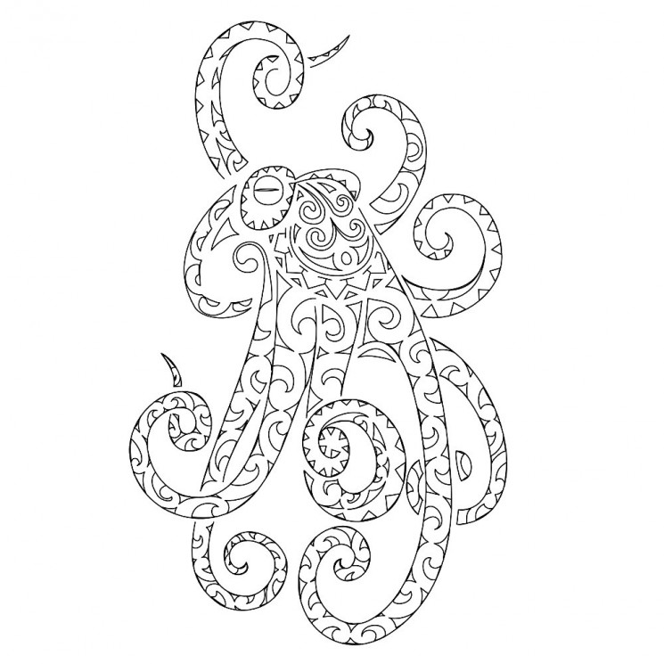 Unforgettable Octopus Tattoo On Belly