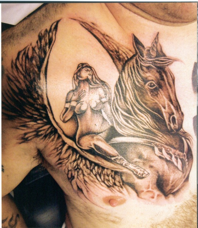 Unicorn Proudly Horse Tattoo Design